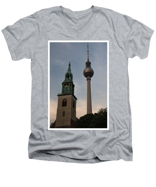 Two Towers In Berlin Men's V-Neck T-Shirt
