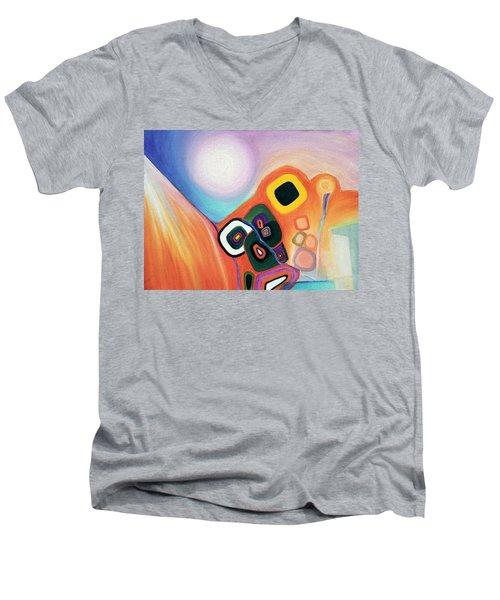 Two Worlds Mandala Men's V-Neck T-Shirt