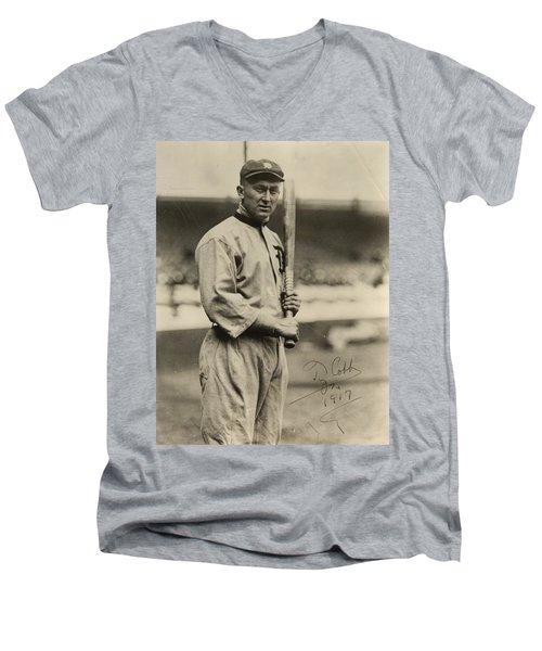 Ty Cobb  Poster Men's V-Neck T-Shirt
