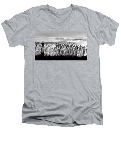 Tybee Lighthouse One Men's V-Neck T-Shirt
