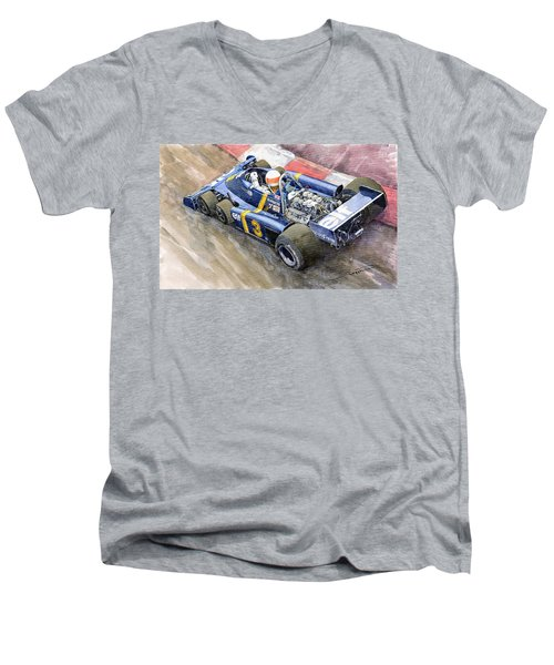 Tyrrell Ford Elf P34 F1 1976 Monaco Gp Jody Scheckter Men's V-Neck T-Shirt