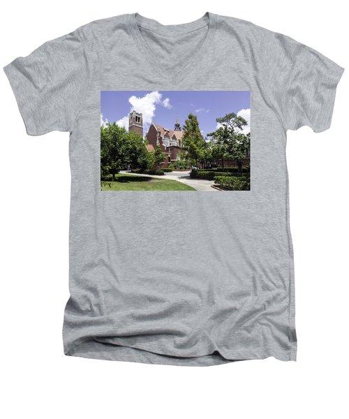 Uf University Auditorium And Century Tower Men's V-Neck T-Shirt