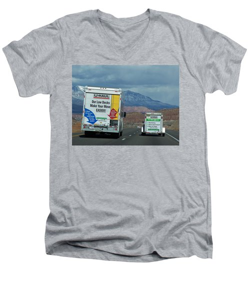 Uhaul On The Move Men's V-Neck T-Shirt