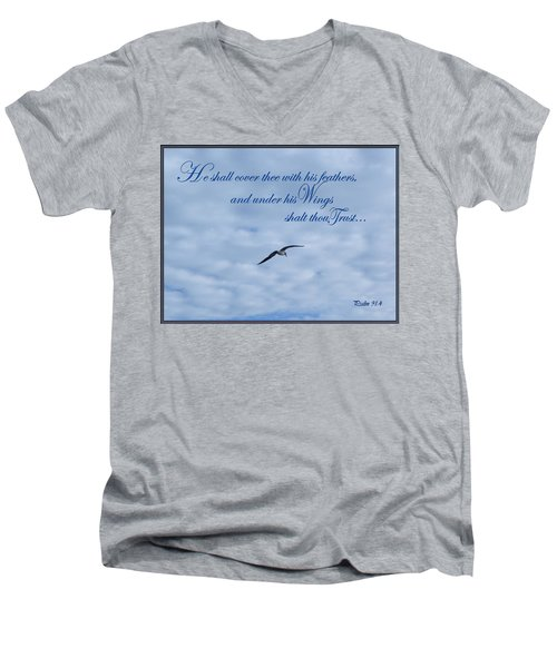 Under His Wings Men's V-Neck T-Shirt by Larry Bishop