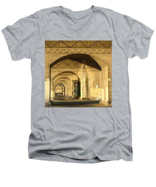 Under The Bridge Men's V-Neck T-Shirt by Joseph Skompski
