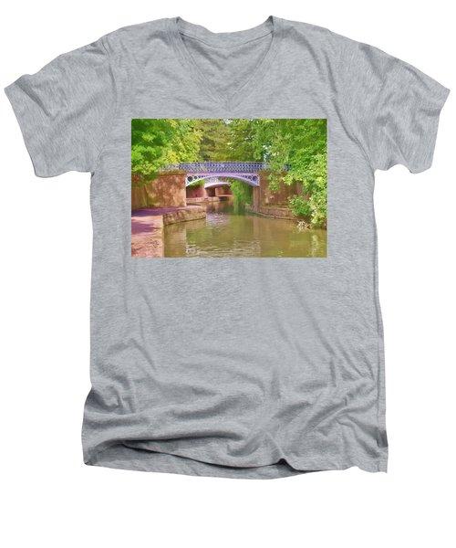 Under The Bridges Men's V-Neck T-Shirt