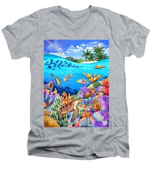 Under The Rainbow Men's V-Neck T-Shirt