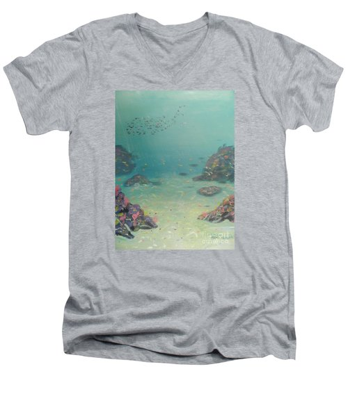 Under The Sea Men's V-Neck T-Shirt by Pamela  Meredith