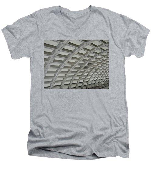 Underground. Washington Dc. Usa Men's V-Neck T-Shirt by Ausra Huntington nee Paulauskaite