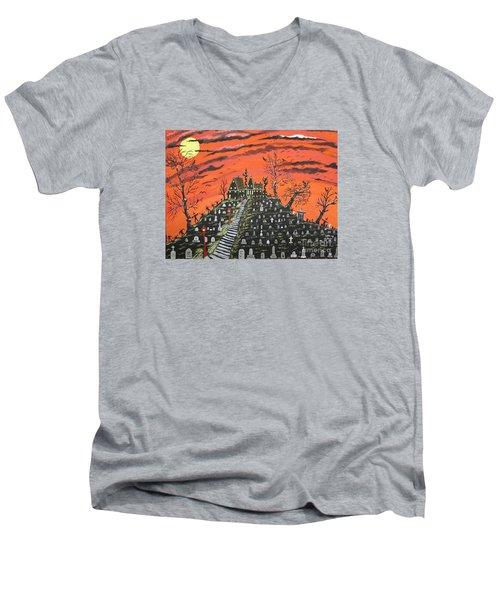 Undertaker's House Men's V-Neck T-Shirt by Jeffrey Koss