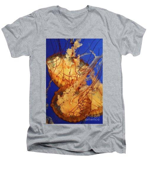 Underwater Friends - Jelly Fish By Diana Sainz Men's V-Neck T-Shirt