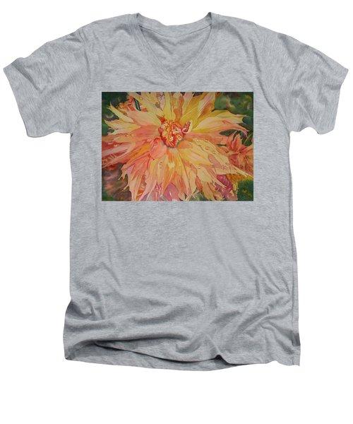 Unfolding Men's V-Neck T-Shirt by Tara Moorman