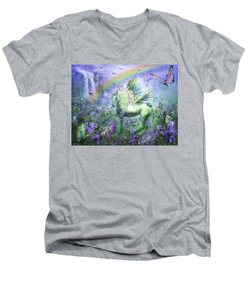 Unicorn Of The Butterflies Men's V-Neck T-Shirt