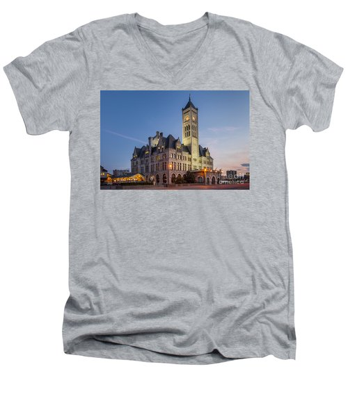 Union Station  Men's V-Neck T-Shirt