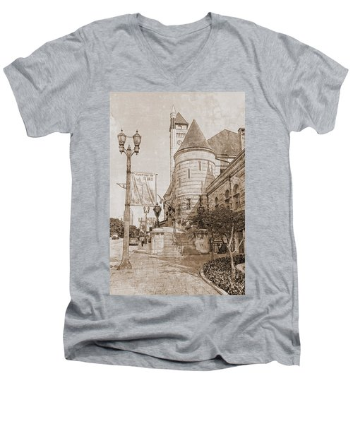 Union Station St Louis Mo Men's V-Neck T-Shirt by Greg Kluempers