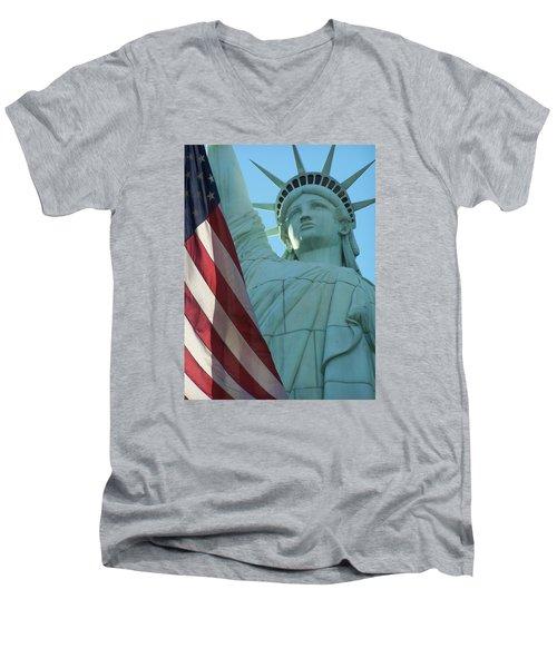 United States Of America Men's V-Neck T-Shirt by Jewels Blake Hamrick