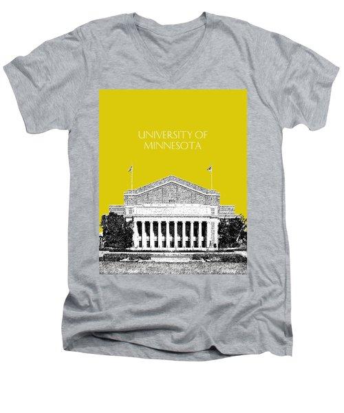 University Of Minnesota 2 - Northrop Auditorium - Mustard Yellow Men's V-Neck T-Shirt