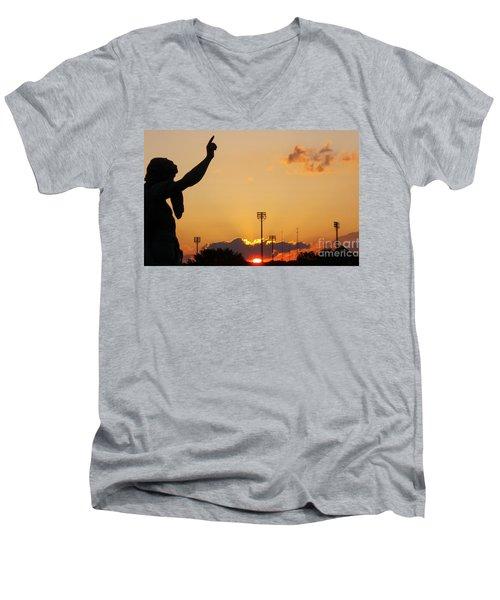 Cemetery Sunset Men's V-Neck T-Shirt