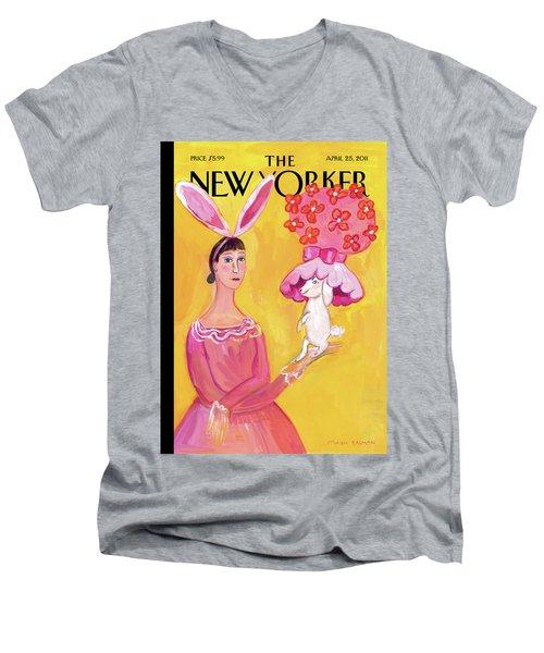 New Yorker April 25th, 2011 Men's V-Neck T-Shirt