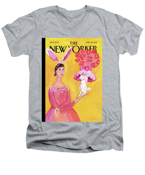 New Yorker April 25th, 2011 Men's V-Neck T-Shirt