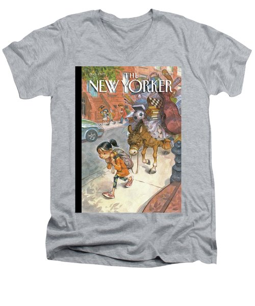 New Yorker September 13th, 2010 Men's V-Neck T-Shirt