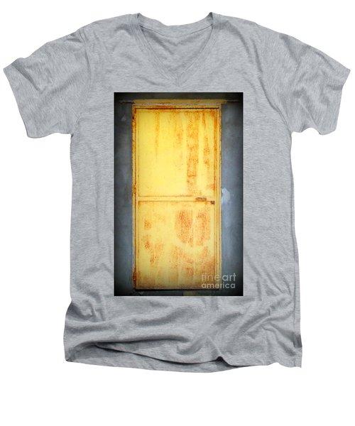 Unused Door Men's V-Neck T-Shirt by Clare Bevan