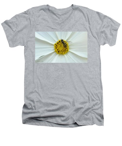 Up Close With The Bee And The Cosmo Men's V-Neck T-Shirt by Verana Stark