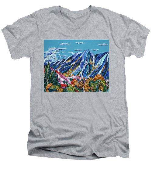 Up To The Mountains Men's V-Neck T-Shirt