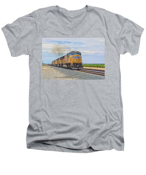 Up4421 Men's V-Neck T-Shirt by Jim Thompson