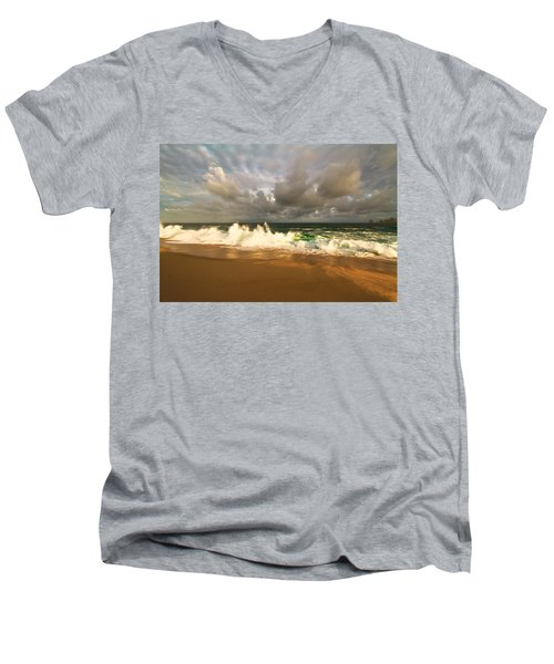 Men's V-Neck T-Shirt featuring the photograph Upcoming Tropical Storm by Eti Reid