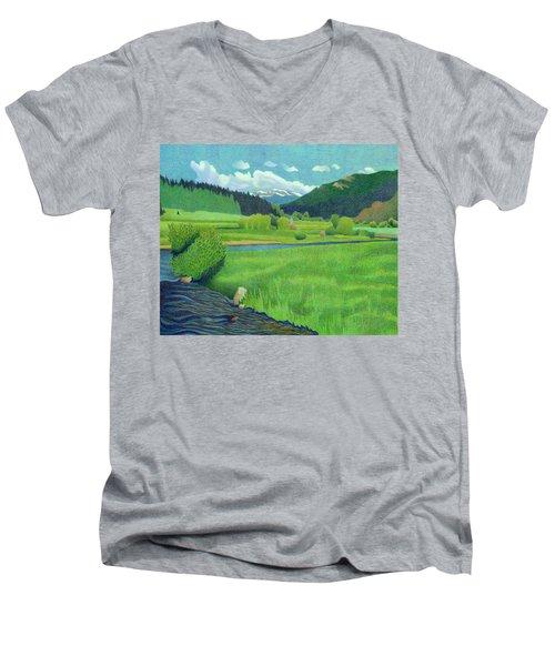 Upper Bear Creek Colorado Men's V-Neck T-Shirt