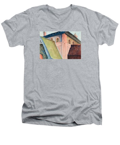 Upper Level Men's V-Neck T-Shirt by Lee Beuther