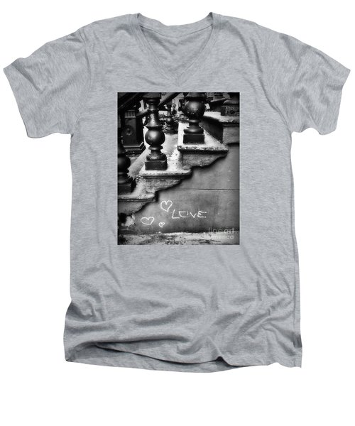Urban Love Men's V-Neck T-Shirt by Miriam Danar