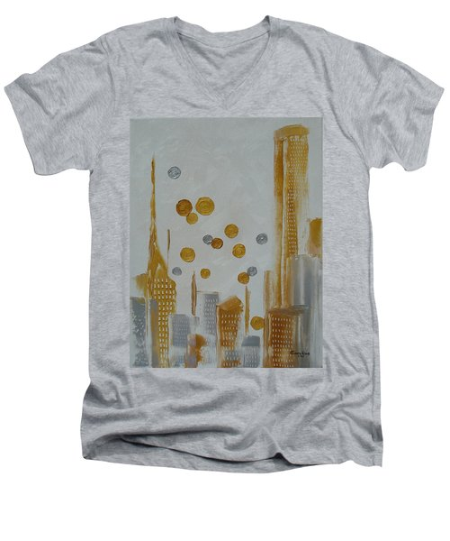 Urban Polish Men's V-Neck T-Shirt by Judith Rhue