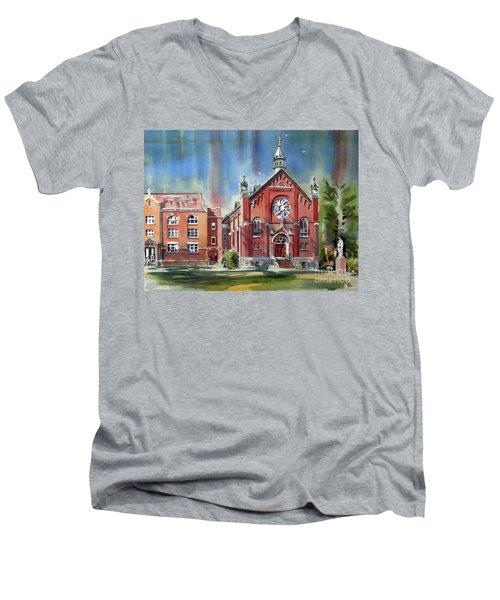 Ursuline Academy With Doves Men's V-Neck T-Shirt by Kip DeVore
