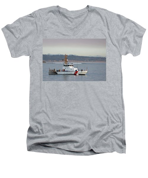 U.s. Coast Guard Cutter - Hawksbill Men's V-Neck T-Shirt