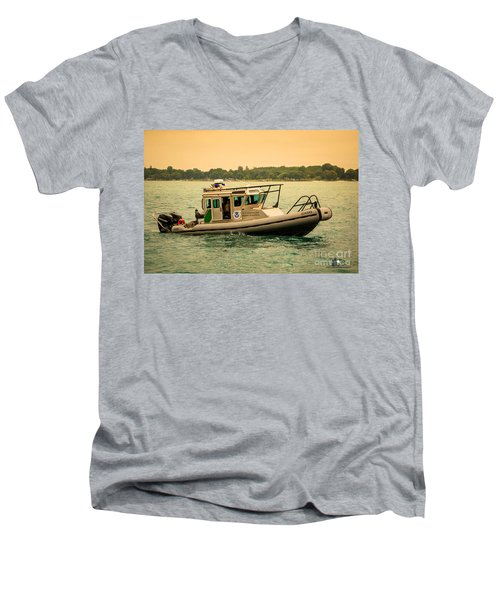 U.s. Customs Border Patrol Men's V-Neck T-Shirt