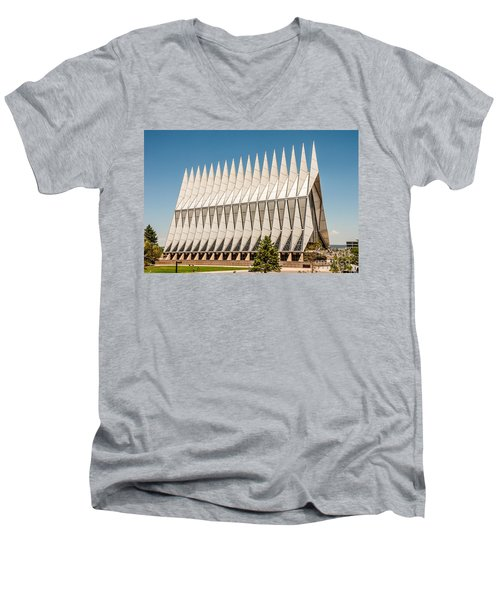 Air Force Academy Chapel Men's V-Neck T-Shirt by Sue Smith