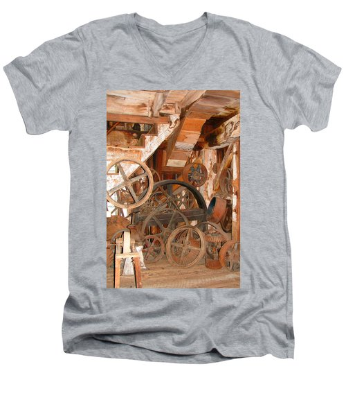 Men's V-Neck T-Shirt featuring the photograph Used Parts As Art  by Brooks Garten Hauschild