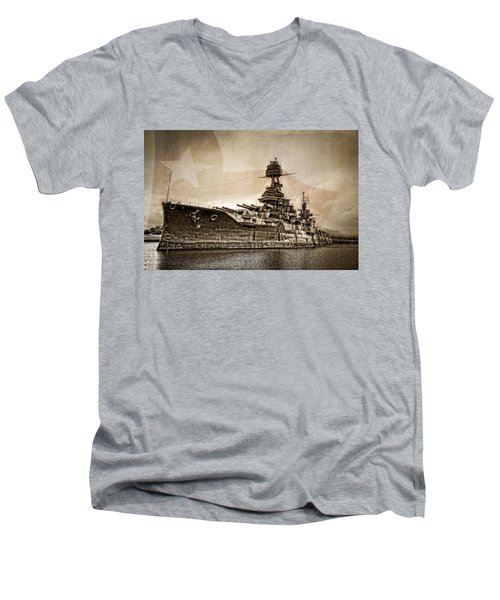 U.s.s. Texas Men's V-Neck T-Shirt