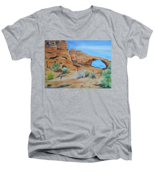 Utah - Arches National Park Men's V-Neck T-Shirt