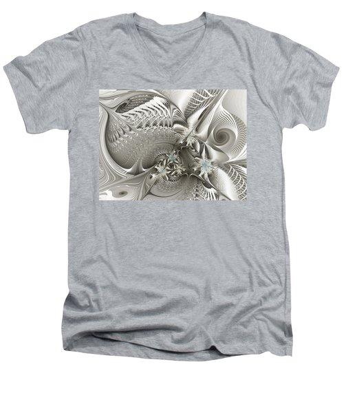 Utopia-fractal Art Men's V-Neck T-Shirt