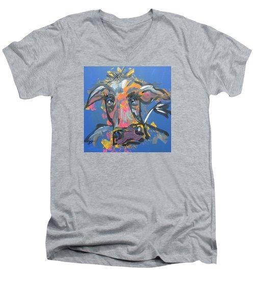 Utterly Funky Men's V-Neck T-Shirt by Terri Einer