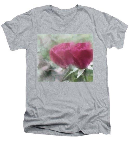 Valentine's Roses Men's V-Neck T-Shirt