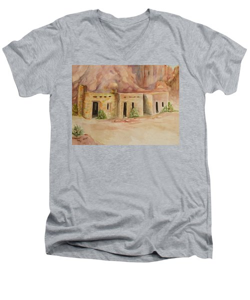 Valley Of Fire Cabins Men's V-Neck T-Shirt