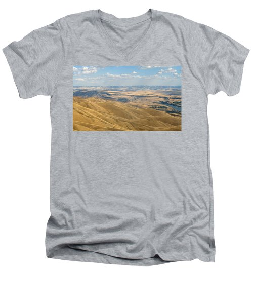 Men's V-Neck T-Shirt featuring the photograph Valley View by Mark Greenberg