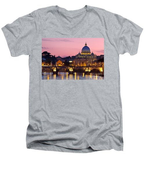 Vatican Twilight Men's V-Neck T-Shirt