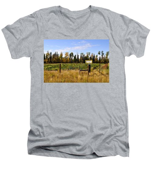 Men's V-Neck T-Shirt featuring the photograph Vegetables For Sale by Cathy Mahnke