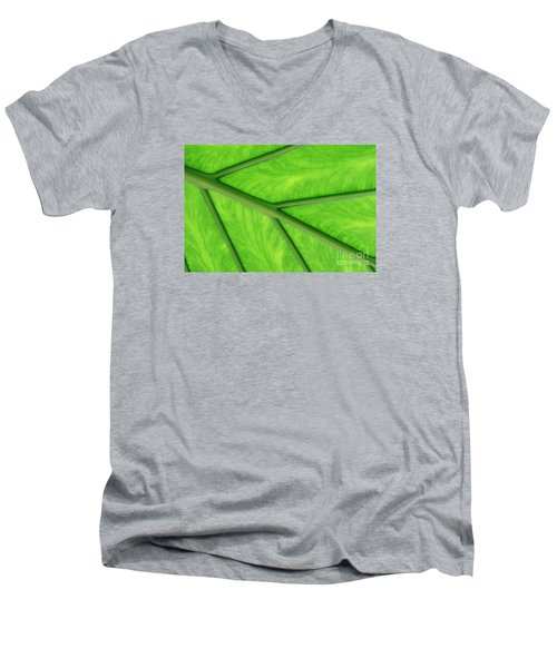 Men's V-Neck T-Shirt featuring the photograph Veins Of Life by Judy Whitton
