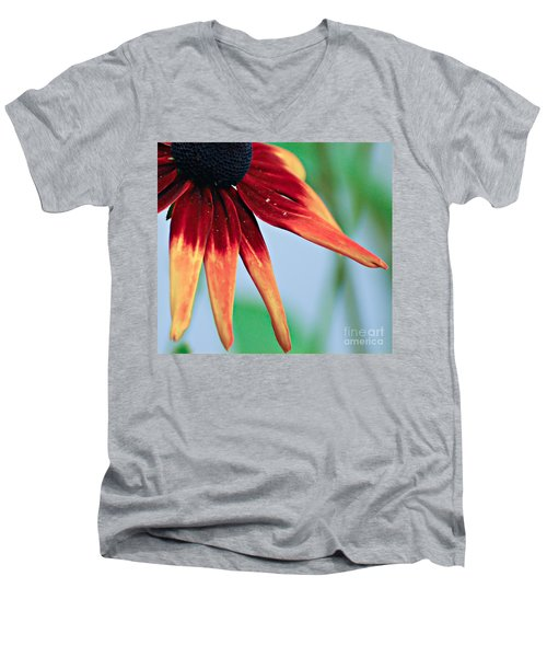 Velvet Petals Men's V-Neck T-Shirt by Kerri Farley